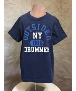 BENETTON Toddler T-shirt OUTSIDER DRUMMER NY Top ORGANIC COTTON Navy Ban... - $14.45
