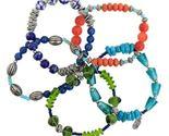 Boho Chic Festival Collection 5-Strand Beaded Stretch Bracelet by Treska - €27,46 EUR