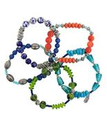 Boho Chic Festival Collection 5-Strand Beaded Stretch Bracelet by Treska - $34.90