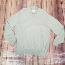 Henry Grethel Sweater Mens XL Extra Large Green Shawl Collar Long Sleeve - $22.76