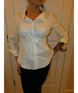 PRADA WHITE SNAP CLOSURE SHIRT SIZE 44 IT AUTHENTIC - $79.19