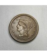 1856 Upright 5 Large Cent AU Coin AI100 - $116.03