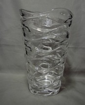 "Flowing  9 Inch Tall Mikasa Crystal ""Atlantic ""Vase - $36.00"
