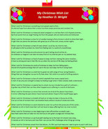 My Christmas Wish List - Printable Poetry Instant Download - $1.98