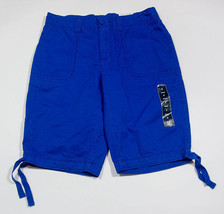 NWT ST JOHNS BAY WOMENS SIZE 6 BERMUDA SHORTS STRIKING BLUE 100% COTTON ... - $20.29