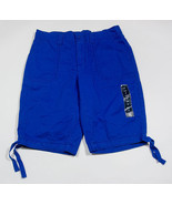 NWT ST JOHNS BAY WOMENS SIZE 6 BERMUDA SHORTS STRIKING BLUE 100% COTTON ... - $21.03