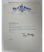 Tom Bradley Signed Autographed 1974 Letter on City of Los Angeles Letter... - $29.99