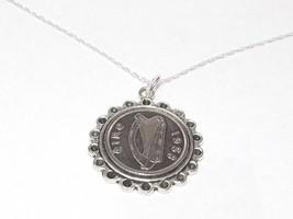 Fine Pendant 1934 Irish sixpence 84th Birthday + 18 inch Sterling Silver... - $17.47