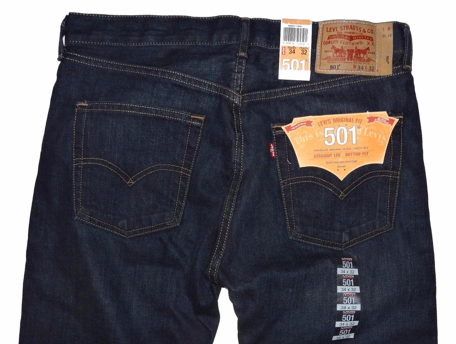 8a15245f8fd Levi's 501 Original Fit Straight Leg Men's Jeans 34 x 32 New #1400 Rare  Color - $76.44