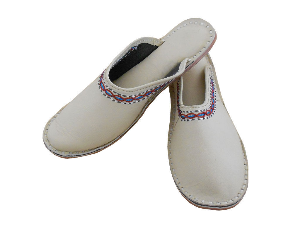 Primary image for Women Slippers Indian Handmade Leather Flip-Flops Clogs Flat US 5
