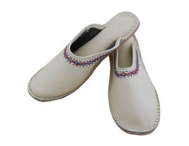 Women Slippers Indian Handmade Leather Flip-Flops Clogs Flat US 5 - $24.99