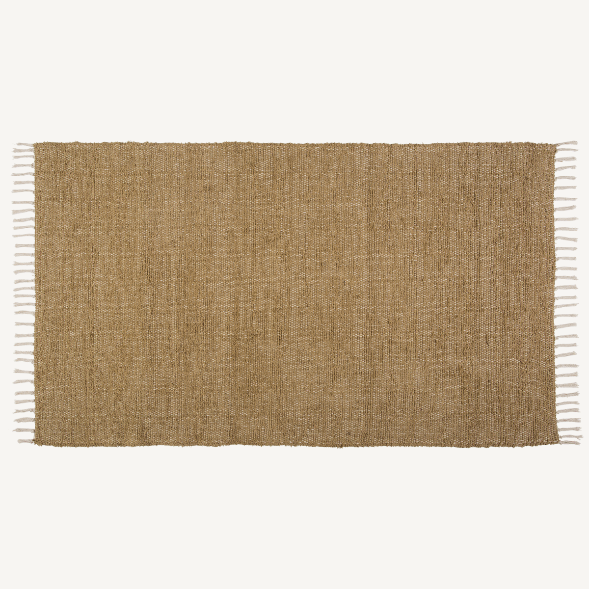 BURLAP NATURAL Chindi/Rag Rug - 36x60 - 100% Cotton Loom Woven - VHC Brands