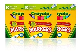 30 Crayola Markers Classic Broad Line Tips Assorted Colors - $11.89
