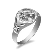 Sterling Silver Aries Ladies Zodiac Sign Ring - £19.70 GBP