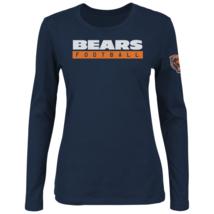 Majestic Womens NFL Never Let It Rest Long-Sleeved Tee Bears M #NINGN-321 - $24.99