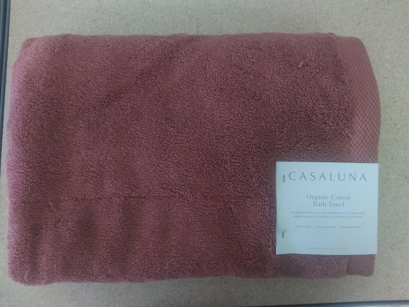 """Casaluna- Organic Bath Towel - 30""""x56""""- Clay"""