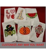 """CUSTOM KITCHEN TOWELS - DESIGN YOUR OWN HOLIDAY TOWEL - CHRISTMAS  16""""x29"""" - $5.93"""