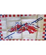 Horse Racing Hooked Rug         ships from Hudson, MI - $17.00