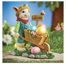 Easter Wheelbarrow Solar Powered Bunny Outdoor Springtime Decor (col) M13 - $168.29