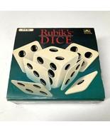 Rubiks Dice Golden Matchbox International Vintage 1990 41160 Cube  - $29.69