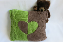 Handmade knitted decorative cushion cover - home decoration- 40 x 40 cm ... - $24.00