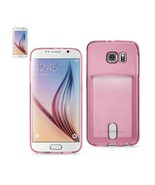 REIKO SAMSUNG GALAXY S6REIKO SEMI CLEAR CASE WITH CARD HOLDER IN CLEAR H... - $7.96