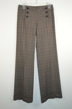 Express Design Studio Womens 0 Brown Plaid Cuffed Casual Dress Pants  - $18.25