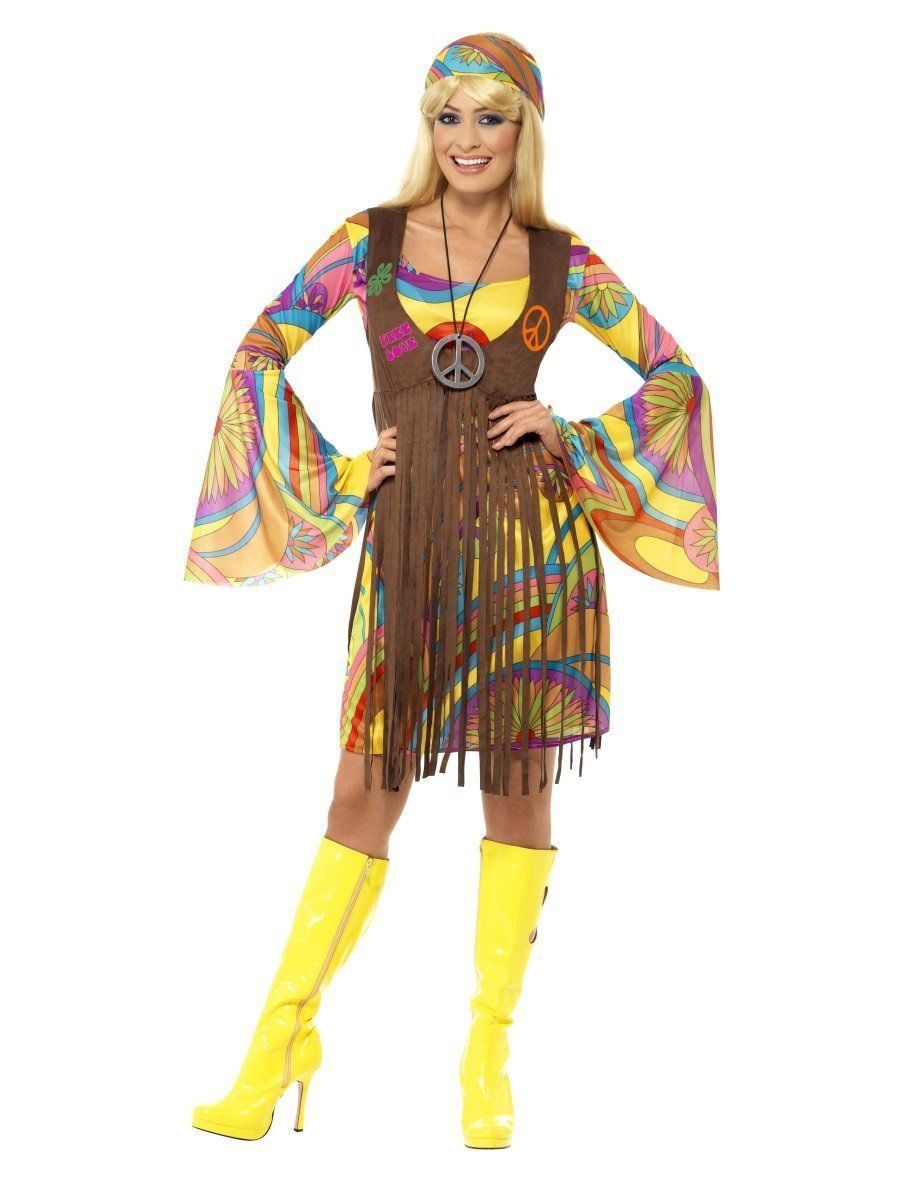 Smiffys 1960s Moda Donna Hippie Amore Pace Donne Adulte Costume Halloween 35531