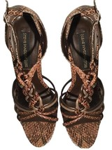 NEW Steve Madden Luxe Leon Sandals in Taupe Multi, Size 9, $178 Retail - £31.28 GBP