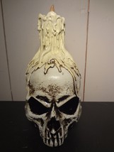 Halloween Light-Up Skull with Candle - $13.50