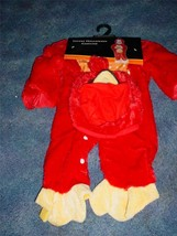 NEW INFANT RED BIRD HALLOWEEN COSTUME PARTY OSFM DRESS UP BABY - €7,24 EUR