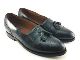 a5f639c373e bostonian mens 11 D B Wingtip Loafers black leather tassel kiltie slip on  26271 -