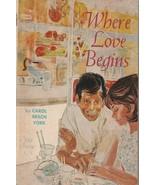 Where Love Begins 1965 Carol Beach York Scholastic T605 Young Adult Romance - $7.91