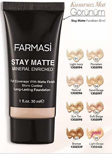 Primary image for Farmasi Stay Matte Foundation Porcelain No:02/30 ml