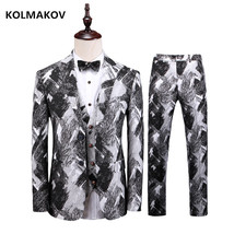 Men Suit 2019 Wedding Suits for Men Classic business 3 Pieces Slim Fit S... - $142.10