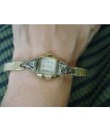 Vintage Antique Ladies Hallmark 10k RGP Bezel, Wristwatch w/ Tiny Diamonds - $42.50
