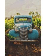 Vintage Teal Car -  Art Picture Poster Photo Print 2CAR - $14.99+