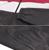 Men's Red Label Hooded Nylon Zip Up Lightweight Athletic Windbreaker Rain Jacket image 3