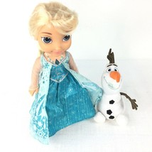 Disney Frozen Elsa singing with Light on chest and extra Olaf plush Toy - $27.52