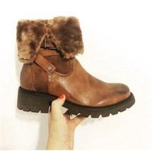 Ladies Full Lined Faux Fur Ankle Boot Tan (US 9, UK 7, EU 40) - $31.32