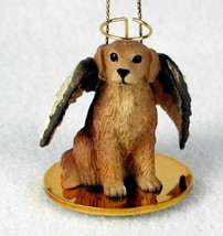 GOLDEN RETRIEVER ANGEL DOG CHRISTMAS ORNAMENT HOLIDAY Figurine Statue - $14.99