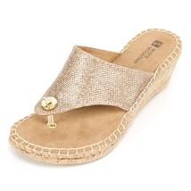White Mountain 'beachball' Women's Sandal, Gold Glitter - 8 M - $34.27