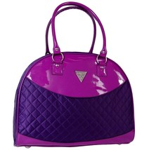 Guess Purple Violet Quilted Dome Travel Tote Bag Handbag Luggage NEW NWT - $169.99