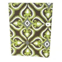Fair Trade Green Illusion Soft Journal Handmade Writing Gifts Tree-Free ... - $11.00