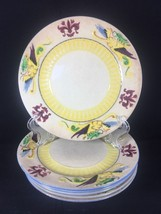 Vintage Maruhon Ware Hand Painted Dragon 4 Luncheon Salad Plate - $45.99