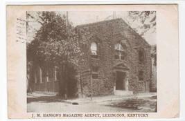 Hanson's Magazine Agency Lexington Kentucky 1909 postcard - $5.94