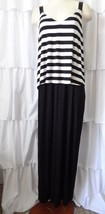 Womens Spense Maxi Dress Sz L Black & White Ladies Large - $15.88