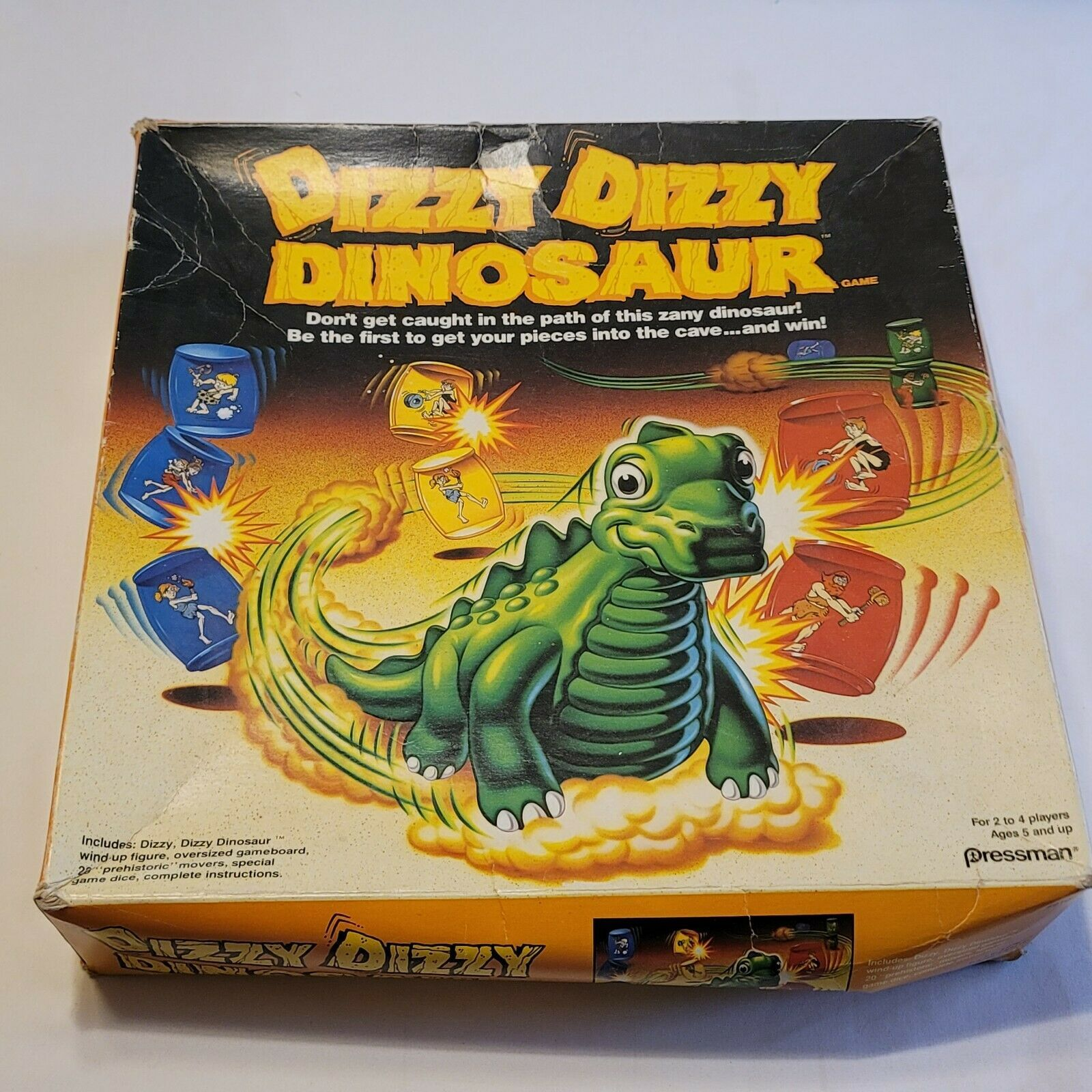 DIZZY DIZZY DINOSAUR Board Game 1987 Pressman 100% Complete #9100  - £25.12 GBP