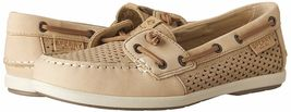 Sperry Top-Sider Women's Coil Ivy Linen Scale Emboss Boat Shoes STS80256 NIB image 7