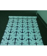 ANCHORS AISLE RUNNER Anchors Navy Blue and White Nautical Beach Destinat... - $159.00